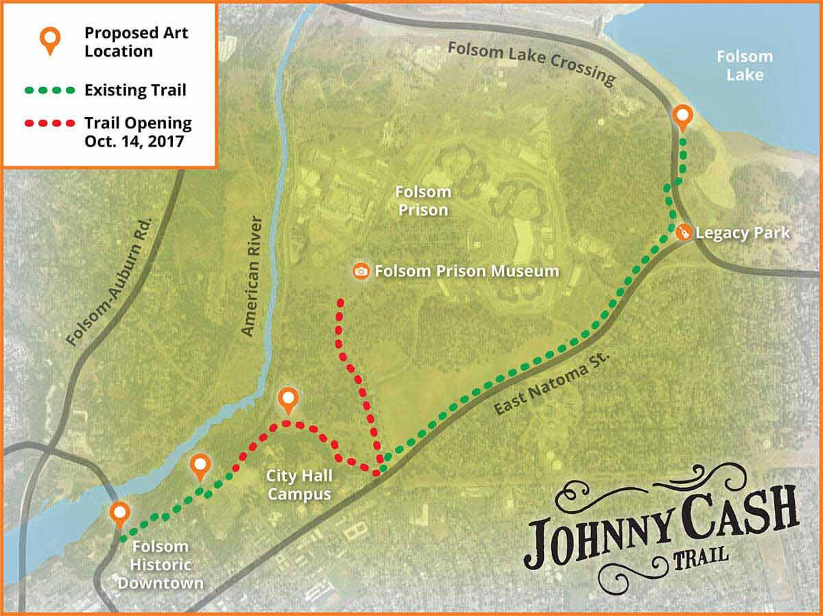 Johnny Cash Trail Map