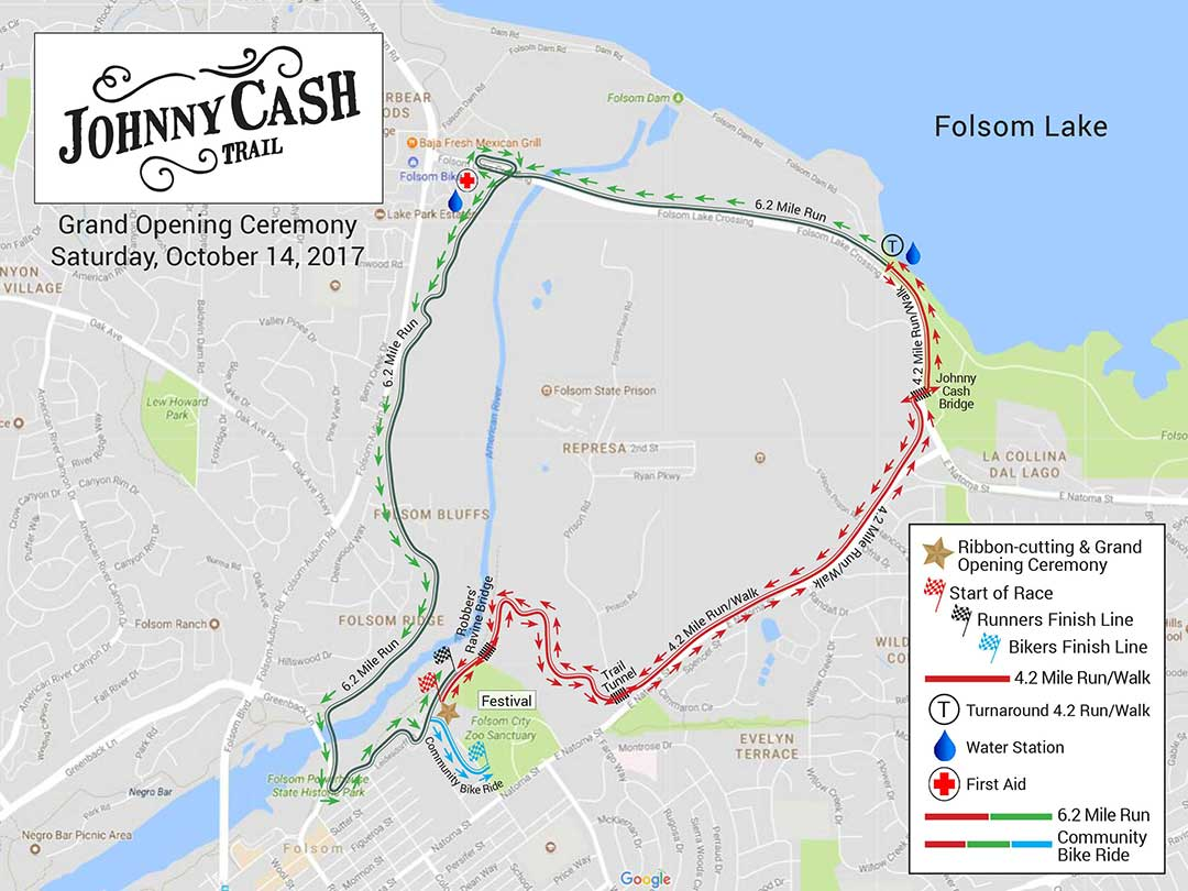 Johnny Cash Trail Events Map