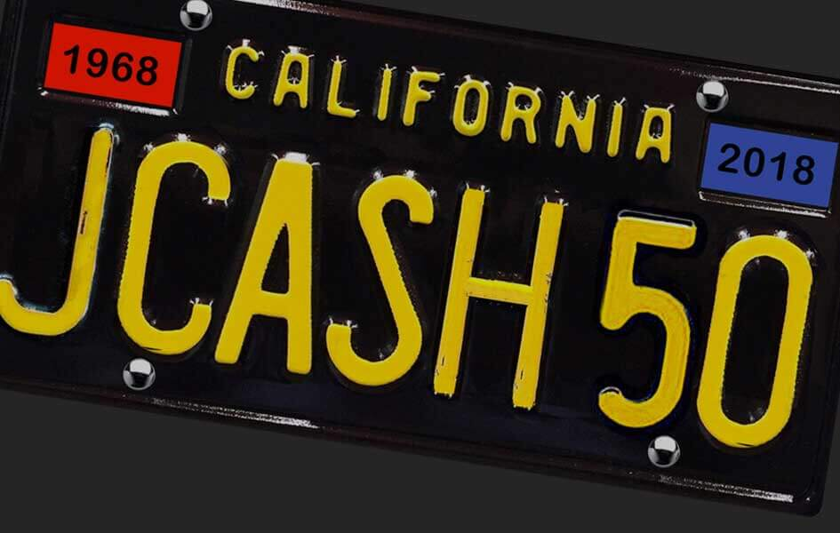 Johnny Cash Collectible License Plate