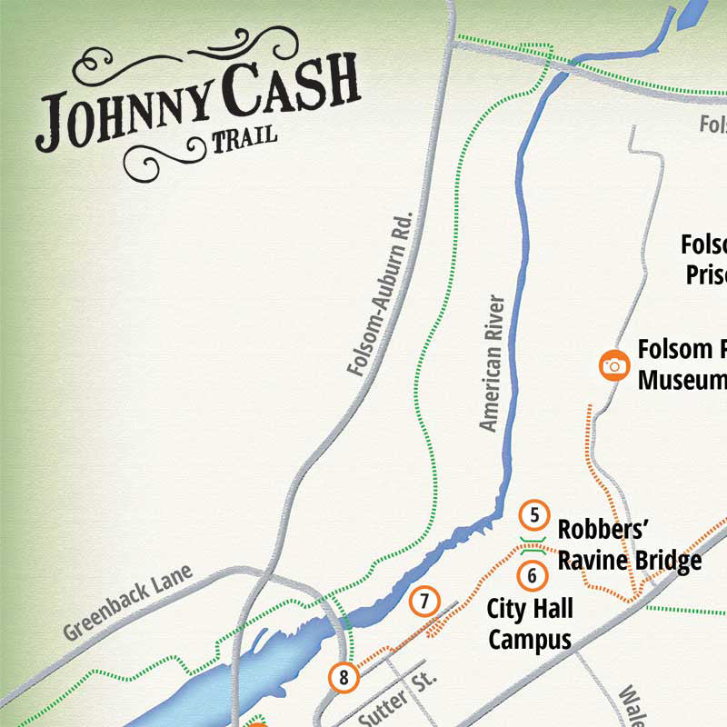 Trail Map | Johnny Cash Trail on map of clinton river michigan, map of truckee river bike trail, map of oleta state park, map of sacramento neighborhoods, map of san gabriel river bike trail,