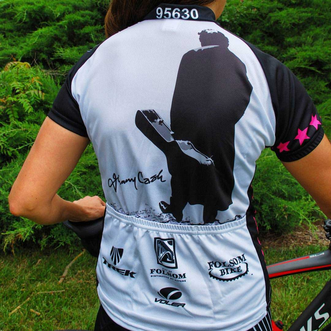 Johnny Cash Trail cycling jersey back